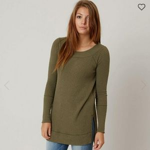 Free People Kate Thermal Long Sleeve Army Green